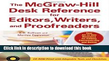 Ebook The McGraw-Hill Desk Reference for Editors, Writers, and Proofreaders(Book + CD-Rom) Full