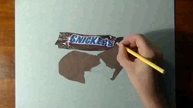 Son Snickers 3D est juste incroyable !