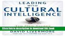 Books Leading with Cultural Intelligence: The New Secret to Success Free Online