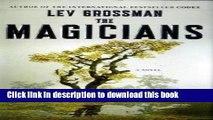 [PDF] The Magicians: A Novel (Magicians Trilogy) Online Book