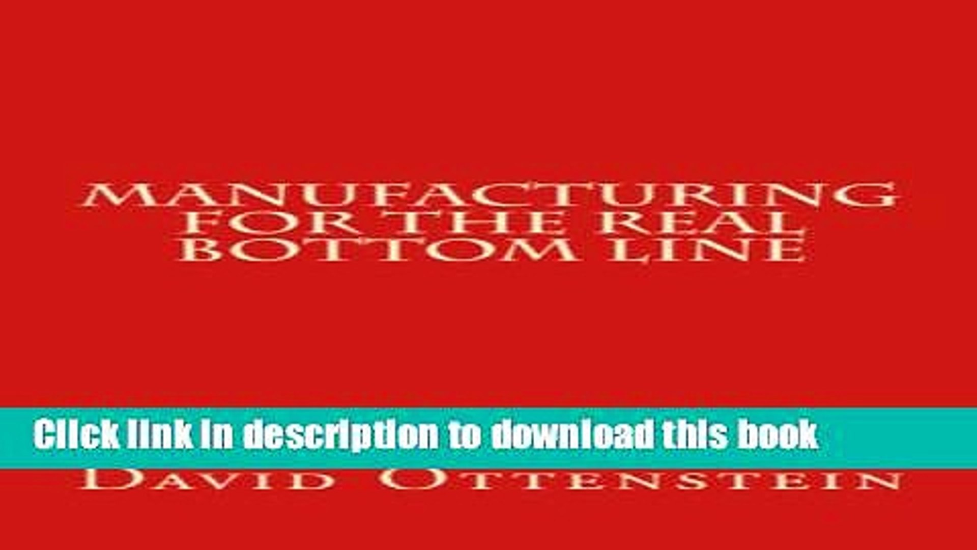 [Read PDF] Manufacturing For The Real Bottom Line Ebook Free