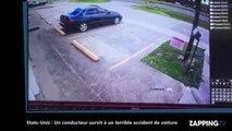 Etats-Unis : Un conducteur survit miraculeusement à un terrible accident de voiture (Vidéo)