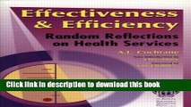 [PDF] Effectiveness   Efficiency: Random Reflections on Health Services Read Online