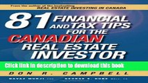 Books 81 Financial and Tax Tips for the Canadian Real Estate Investor: Expert Money-Saving Advice