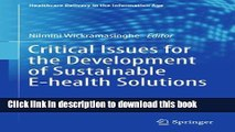 Books Critical Issues for the Development of Sustainable E-health Solutions (Healthcare Delivery