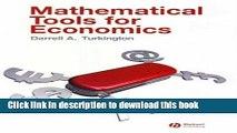 PDF  Mathematical Tools for Economics  Online