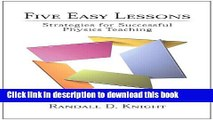 PDF  Five Easy Lessons: Strategies for Successful Physics Teaching  Free Books