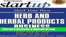 Books Start Your Own Herb and Herbal Products Business (Start Your Own Herb   Herbal Products