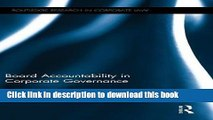 Books Board Accountability in Corporate Governance Free Online