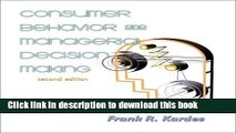 Ebook Consumer Behavior and Managerial Decision Making (2nd Edition) Full Online