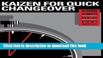 Download  Kaizen for Quick Changeover: Going Beyond SMED  Free Books