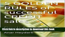 Ebook 5 GOLDEN RULES of successful CREDIT sales: Simple   manageable rules to better operate SME