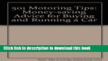 Ebook 501 Motoring Tips: Money-saving Advice for Buying and Running a Car Free Online