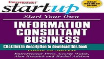 Books Start Your Own Information Consultant Business: Your Step-By-Step Guide to Success (StartUp