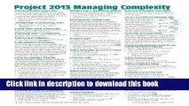 Ebook Microsoft Project 2013 Quick Reference Guide: Managing Complexity (Cheat Sheet of