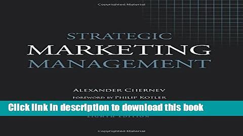 Ebook Strategic Marketing Management Free Online