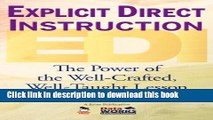 Books Explicit Direct Instruction (EDI): The Power of the Well-Crafted, Well-Taught Lesson Free