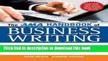 Books The AMA Handbook of Business Writing: The Ultimate Guide to Style, Grammar, Punctuation,