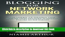 Books Blogging for Network Marketing: The Unique  3 R  Strategy That Took Me From Network