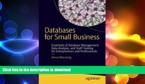 EBOOK ONLINE Databases for Small Business: Essentials of Database Management, Data Analysis, and