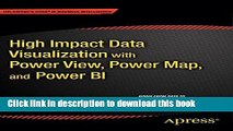 Books High Impact Data Visualization with Power View, Power Map, and Power BI Full Online