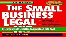 Ebook The Small Business Legal Kit (Adams Expert Advice for Small Business) Full Online