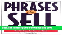Books Phrases That Sell : The Ultimate Phrase Finder to Help You Promote Your Products, Services,