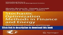 Ebook Stochastic Optimization Methods in Finance and Energy: New Financial Products and Energy