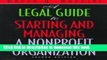 Books A Legal Guide to Starting and Managing a Nonprofit Organization, 2nd Edition Full Online