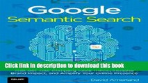 Books Google Semantic Search: Search Engine Optimization (SEO) Techniques That Get Your Company