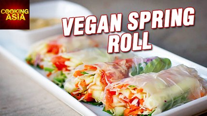 How To Make Vegan Spring Roll | Easy Recipe | Cooking Asia
