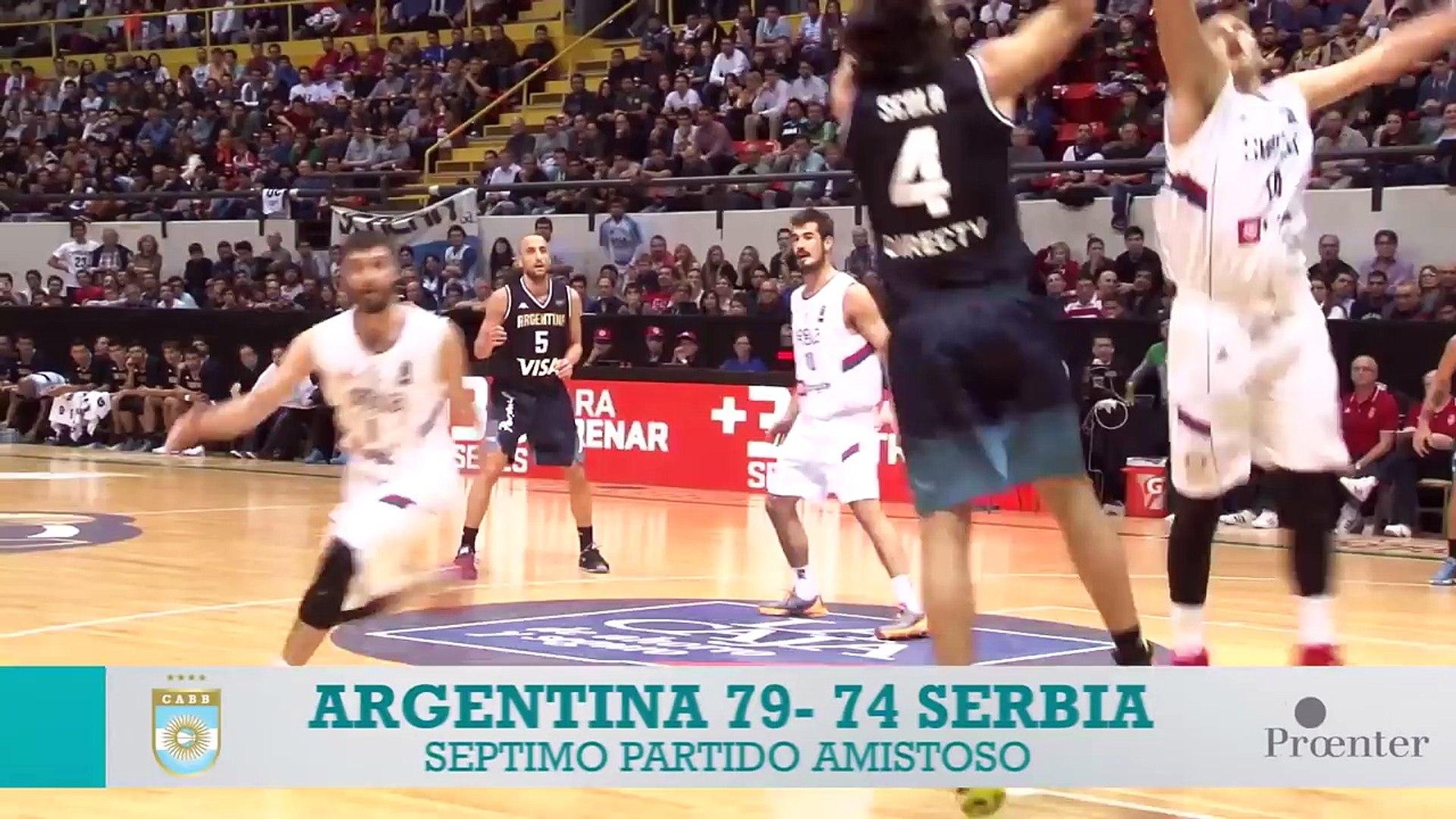 Súper 4:  Argentina 79 - 74 Serbia - Highlights - (31.07.2016)