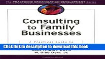 Ebook Consulting to Family Businesses: Contracting, Assessment, and Implementation Full Online