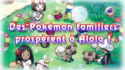 Pokémon Soleil et Lune : Nouveautés (formes d'Alola, capacités Z) en vidéo