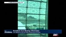 Accident d'un Boieng d'Emirates, l'avion en feu à l'atterrissage
