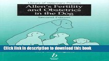 Books Allen s Fertility and Obstetrics in the Dog Free Download