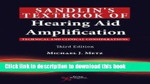 Ebook Sandlin s Textbook of Hearing Aid Amplification: Technical and Clinical Considerations Full