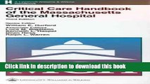 Books Critical Care Handbook of the Massachusetts General Hospital Full Online