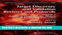 Ebook Target Discovery and Validation Reviews and Protocols: Emerging Strategies for Targets and