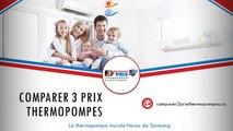 Comparer 3 Prix Thermopompes - Samsung Novus (thermopompe murale)