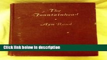 Ebook The Fountainhead. By Ayn Rand. Blakiston Edition Full Online
