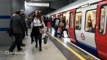 London Underground S Stock train at King's Cross St Pancras