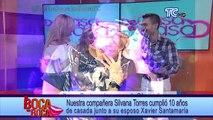 Silvana Torres cumplió 10 años de casada junto a su esposo Xavier Santamaría
