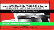 Ebook How to Write a Successful Research Grant Application: A Guide for Social and Behavioral