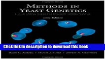 Download  Methods in Yeast Genetics: A Cold Spring Harbor Laboratory Course Manual, 2005 Edition