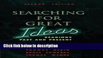 Books Searching for Great Ideas: Readings Past and Present Full Download
