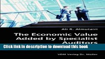 Books The Economic Value Added by Specialist Auditors- Hypothesis, Sample and Data, Results Free