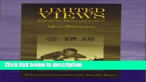 Books Limited Views: Essays on Ideas and Letters (Harvard-Yenching Institute Monograph Series)