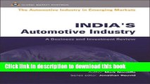 Ebook India s Automotive Industry (Automotive Industry in Emerging Markets S.) Free Online