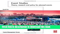 Ebook Event Studies: Theory, Research and Policy for Planned Events (Events Management) Free